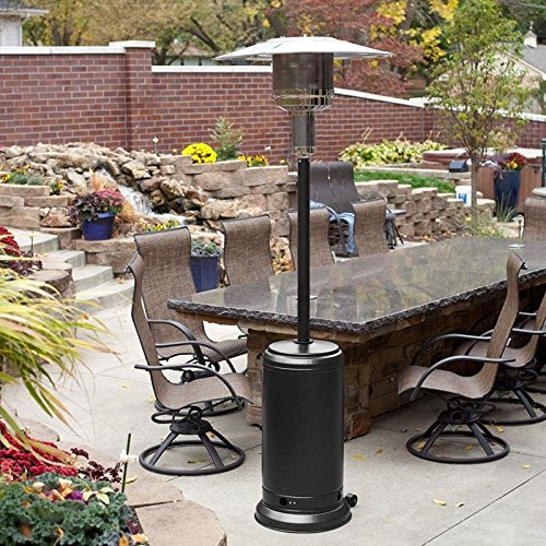 9TRADING Mocha Commercial Restaurant Outdoor Patio Heater LP Propane Deck Tall Gas BTU,Free Tax,Delivered Within 10 Days (Table Patio With Mocha Heater)