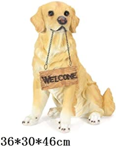 MFHDK Statues,Animal for The Home Sculpture Statue Welcome Dog Statues Pug Harrier Boston Terrier Art Sculpture Resin Art&Craft Home Decorative Garden Ornament Sculptue Sculptures