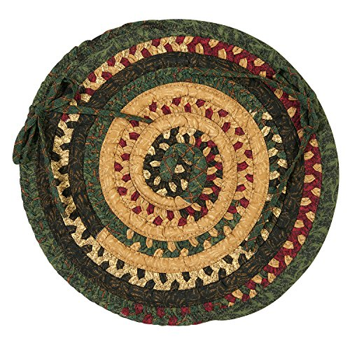 Market Mix Oval Chair Pad, 15 by 15-Inch, Winter, 1-Pack ()