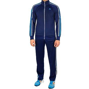 66331e64da3c adidas Men s Tracksuit Essentials 3 Stripes Tracksuit - Blue