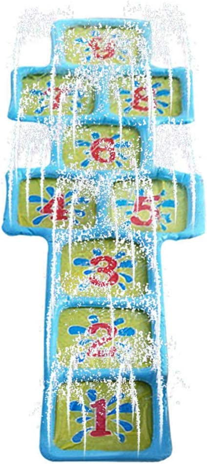 Playing Inflatable Toy Fun Accessories Game Mat Summer Hopscotch Water Sprinkler