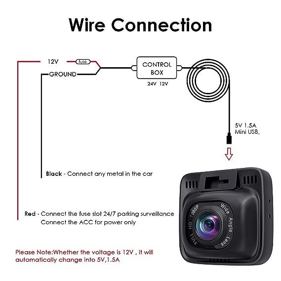 Amazon.com: Dash Cam Hardwire Kit Mini USB 10ft 12V-24V to 5V, Low on ethernet wire diagram, usb cord diagram, usb 4 wire colors, hdmi wire diagram, usb 4 pin diagram, usb 4 cable,