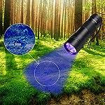 Black Light UV Flashlight UV Light,Vansky Blacklight 12 LED Urine Detector For Dog/Cat/Pet Urine & Dry Stains and Bed Bug On Carpets/Rugs/Floor,Matching with Pet Odor Eliminator 14