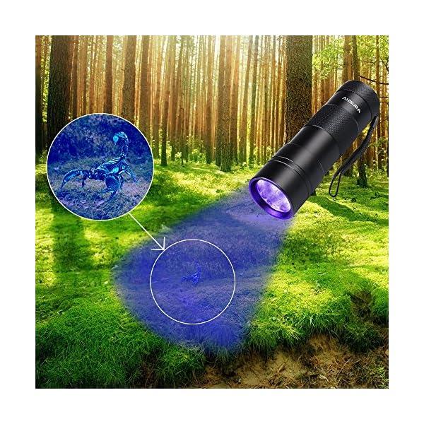 Black Light UV Flashlight UV Light,Vansky Blacklight 12 LED Urine Detector For Dog/Cat/Pet Urine & Dry Stains and Bed Bug On Carpets/Rugs/Floor,Matching with Pet Odor Eliminator 6