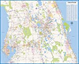 Central Florida Laminated Wall map (60''Wx48''L)