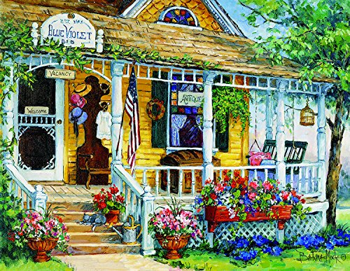 Blue Violet Antiques (Large Piece) 1000 Piece Jigsaw Puzzle by SunsOut
