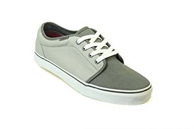 68a4a83c7a0f Vans 106 Vulcanized VNJNLN1 Unisex Pewter Ash Gray Canvas Skate Trainers UK  12