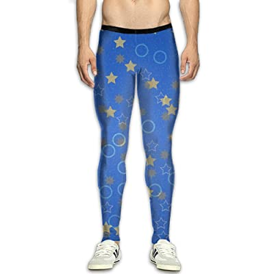 MSYGP Star Bubble Compression Pants Men Unique Tights Leggings Running Gym Tights For Men