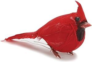Darice Red Fat Cardinal Feathered Bird, 3.5