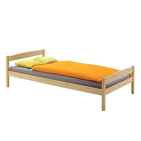 Möbel Betten Einzelbett Jugendbett Bett Kiefer Massiv Weiß