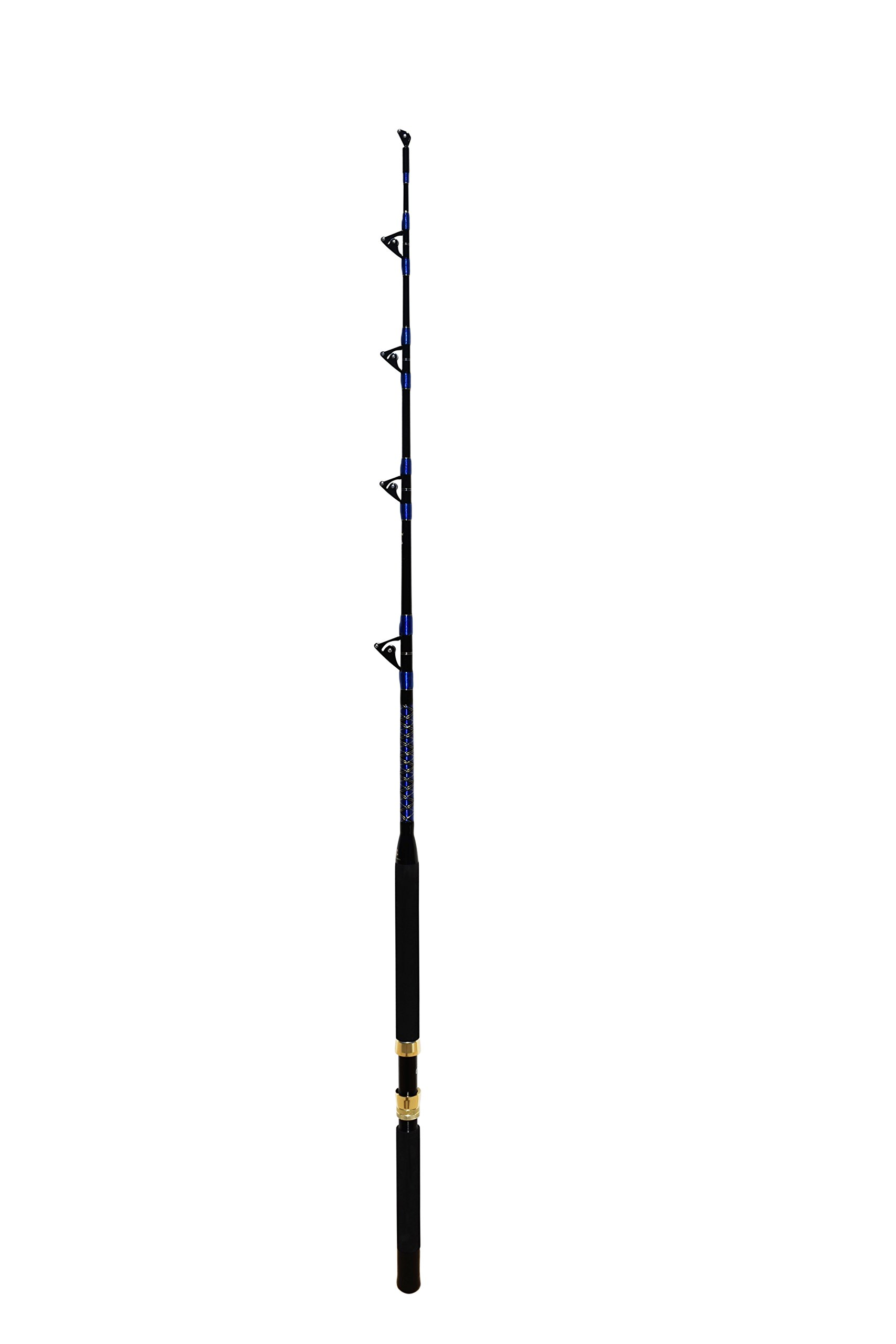 EAT MY TACKLE Saltwater Fishing Rod all Roller Guides, Fishing Pole, 150-180 Lb