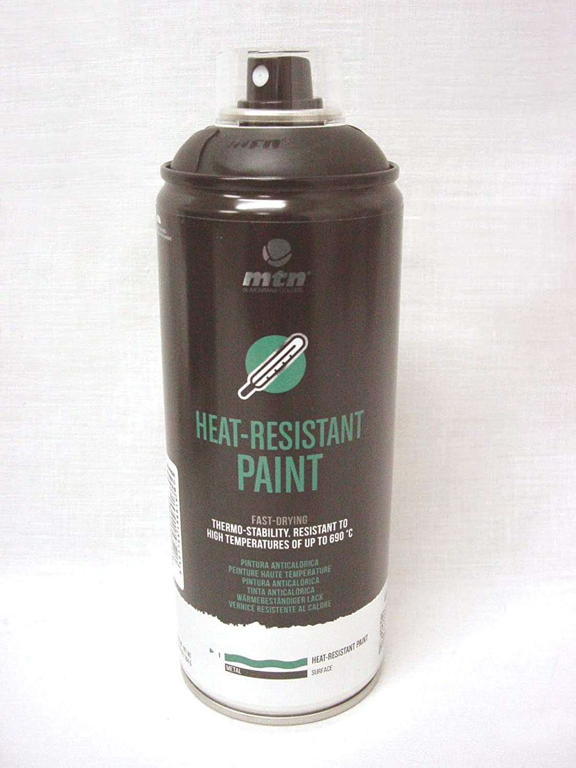 Spray industrial ALTA TEMPERATURA NEGRO 400 ML
