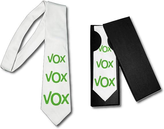 MERCHANDMANIA Corbata Elegante Logo Partido VOX Suave Poliester: Amazon.es: Ropa y accesorios