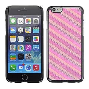 YiPhone /// Prima de resorte delgada de la cubierta del caso de Shell Armor - Pink Purple Horizontal - Apple iPhone 6 Plus 5.5