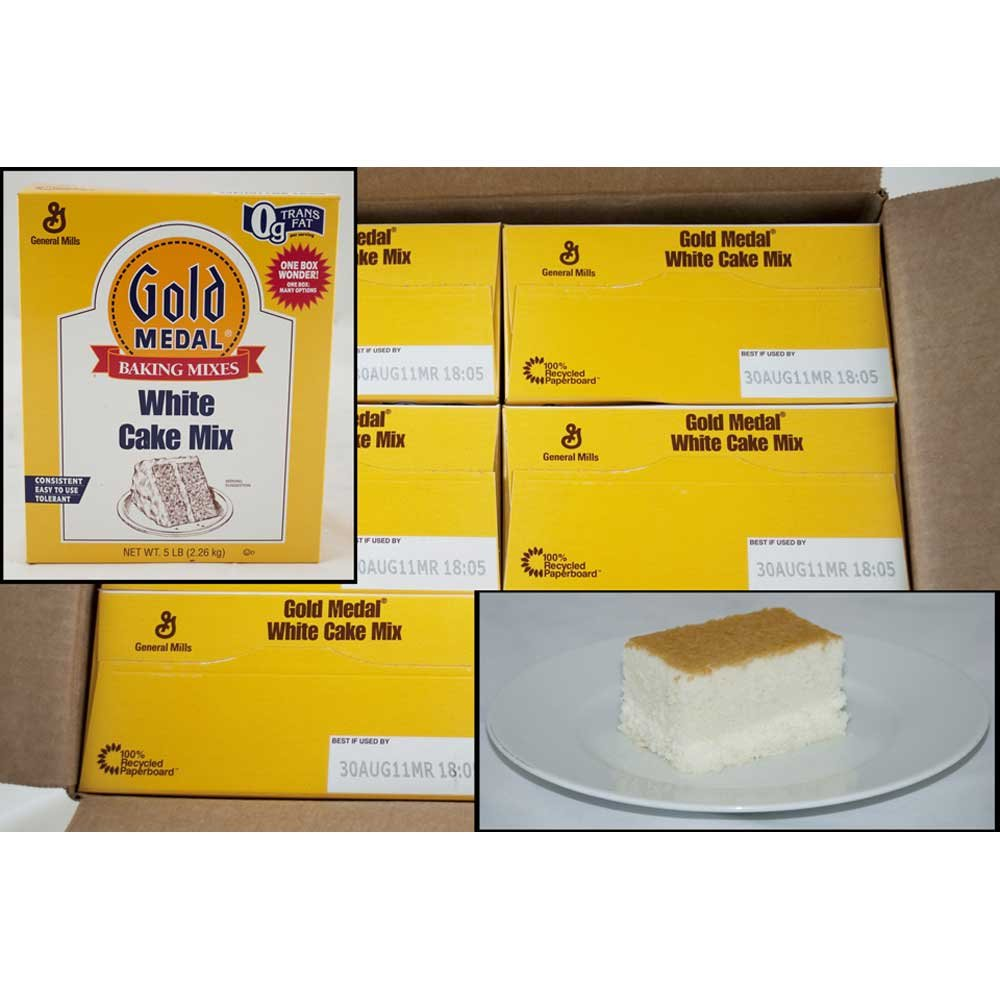Gold Medal White Cake Mixes 6 Case 5 Pound by General Mills