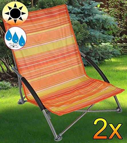 2 x Tumbona Sillón, silla de playa, tumbona, de terracota ...