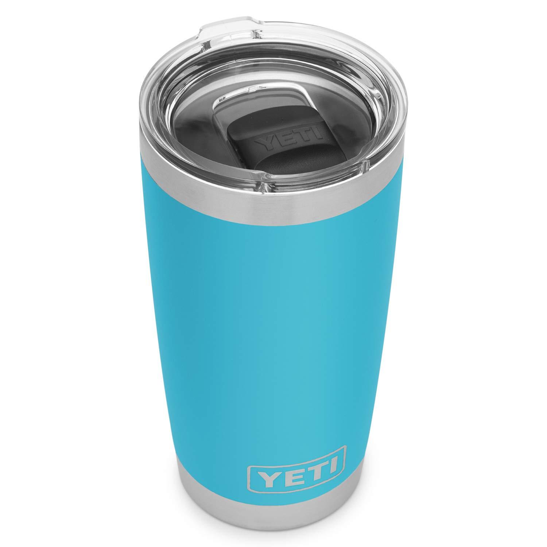 Reef bluee YETI Rambler 20 oz Stainless Steel Vacuum Insulated Tumbler w MagSlider Lid, Harbor Pink