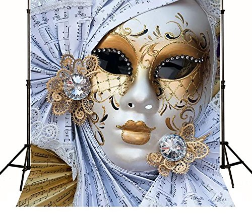 5x7ft Masquerade mask Fiesta Birthday Music Backgrounds Pictorial Cloth Computer Printed Party backdrops MR-1910 -
