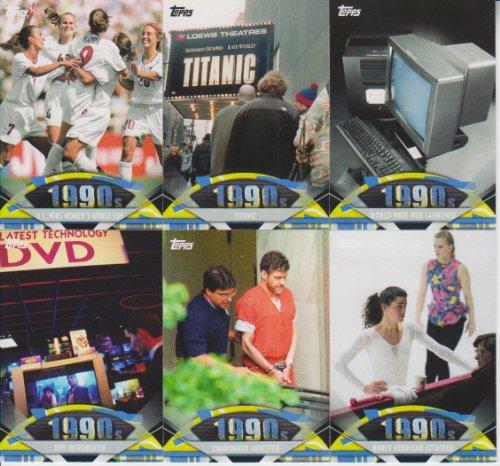 - 2011 Topps American Pie 1990's 6 Card Lot U.S. Women's Soccer World Cup #165,169,171,173,174,177