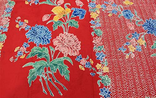 Old Indonesia Batik - Griya Batik Encim Traditional Beautiful Sarong Chrysanthemum Handmade Batik Seruni Pekalongan Indonesia Unique Flower Design Solo Cover-Up Cotton Fashionable