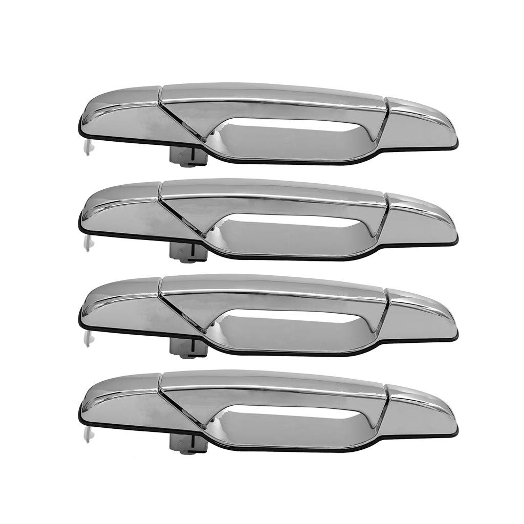 CreazyBee 4PC for Chevrolet Pickup Truck Exterior Chrome Door Handle Set (Sliver) by CreazyBee