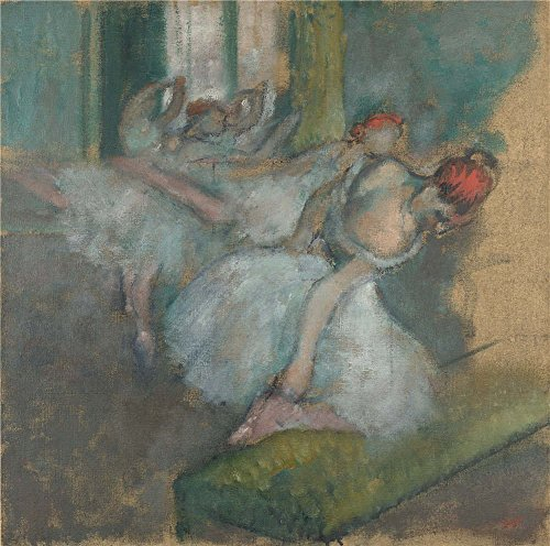 Polyster Canvas ,the High Resolution Art Decorative Prints On Canvas Of Oil Painting 'Hilaire Germain Edgar Degas Ballet Dancers ', 16 X 16 Inch / 41 X 41 Cm Is Best For Powder Room Decoration And Home Artwork And Gifts (Ballet Bag Degas)