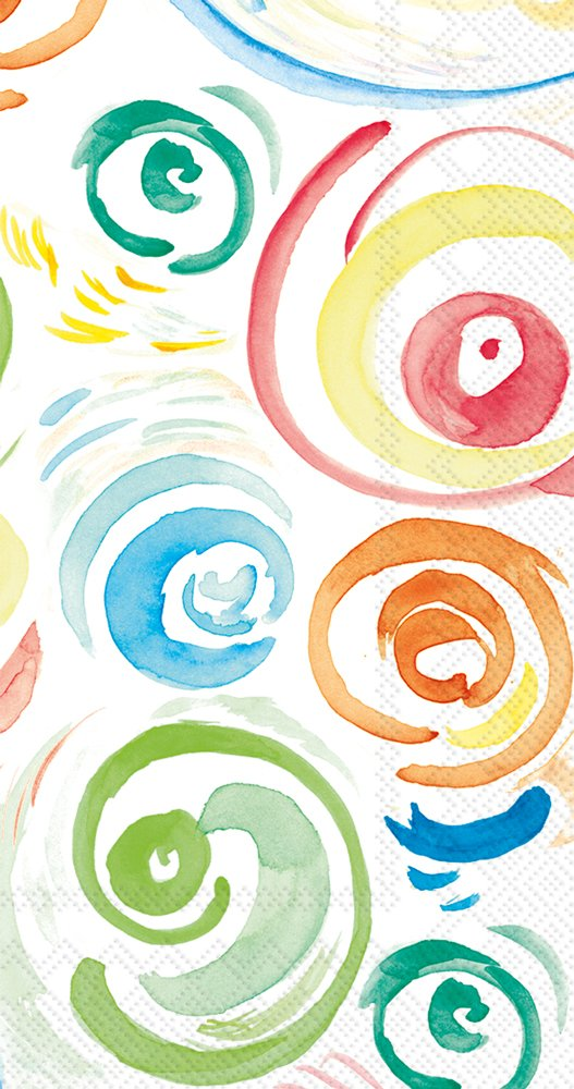 Boston International 16 Count Paper Guest/Buffet Napkins, Happy Circles