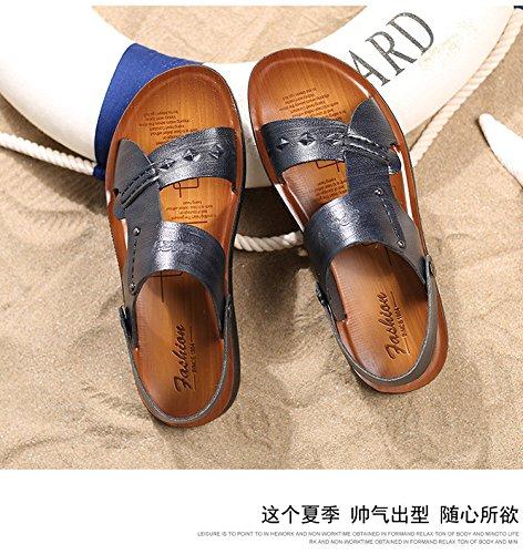 Frühling Sommer Das neue Männer Sandalen Mode Strand Männer Schuh Freizeit Sandalen ,schwarz,US=7,UK=6.5,EU=40,CN=40