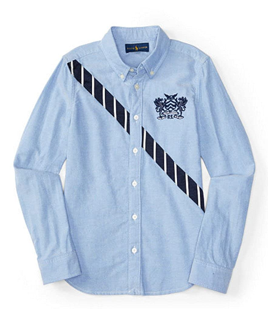 Ralph Lauren Girls Diagonal Stripe Oxford Shirt