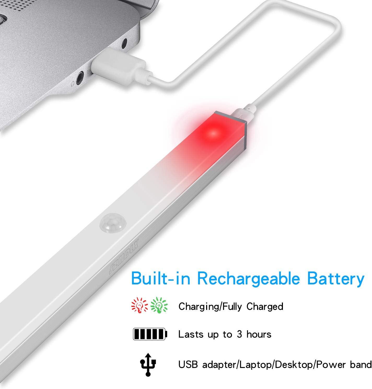 veilleuse portable sans fil avec 14 LED pour armoire sous la barre lumineuse de c/âble USB rechargeable SZMDLX Lot de 2 /éclairages /à d/étecteur de mouvement avec capteur de mouvement
