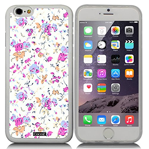 CocoZ® New Apple iPhone 6 s 4.7-inch Case Beautiful Small broken flower pattern TPU Material Case (Transparent TPU & Beautiful flower - Chanel Rhinestone Eyeglasses