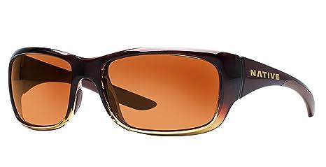 Nativo gafas kannah polarizadas gafas de sol Stout Fade/Brown Talla única