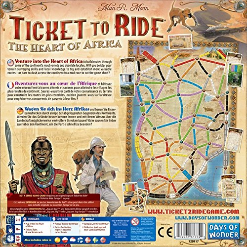 Amazon.com: Ticket to Ride: Africa Map Collection Three: Toys & Games