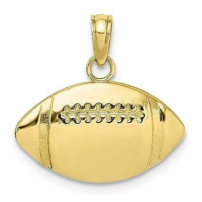 Abalorio de balón de fútbol de oro amarillo de 10 quilates 2-D y ...