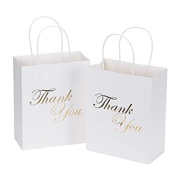Amazon Laribbons Medium Size Gift Bags Gold Foil Thank You