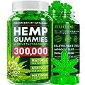 Hemp Gummies 300000 Premium Stress Anxiety Relief Made In Usa 100 Natural Safe Oil Gummies Mood Enhancer Immune Support Rich In Vitamins B E Omega 3 6 9 60 Pcs