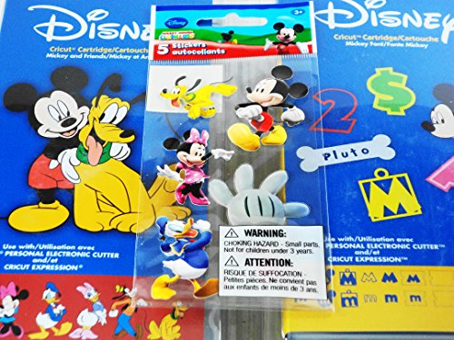 Cricut Disney Cartridge: Bundled Mickey and Friends, Mickey Font and 5 Sandylion Stickers for Your Scrapbooking Creations (Duck Shape Die Cutter compare prices)
