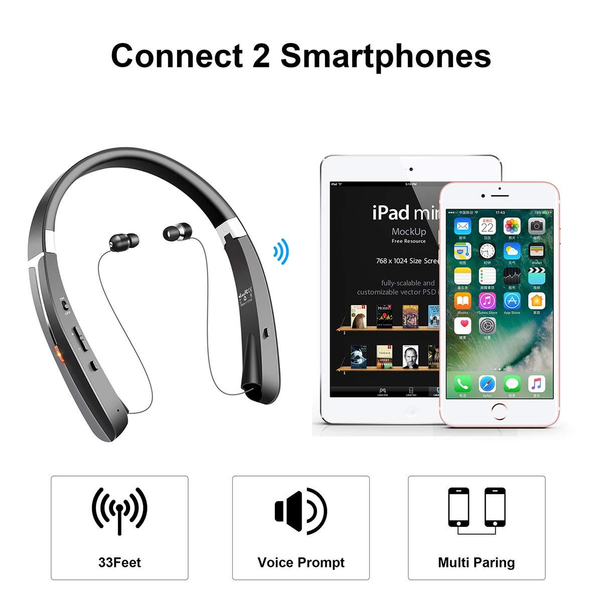 YOOSUN Auricular Bluetooth Auricular Inalámbrico In ear con Microfono y Cancelación de Ruido (992)