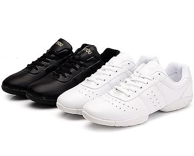 91505bb6f508a DADAWEN Women s Sport Training Cheerleading Shoes Black US Size 4.5  EU  Size 35