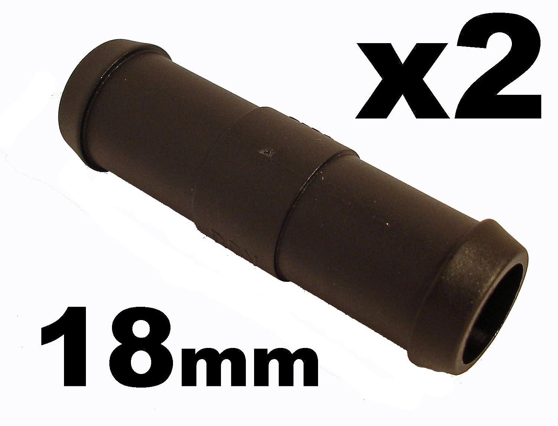 Schlauchverbinder Kunststoff Gerade x2 - Auß endurchmesser 18mm - Fü r Schlä uchen