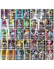 Akemaio Pokémon flashkort 100 delar Pokémon kortset tecknat spelkort barn GX samlarkort med 95 GX Pokémon-kort och 5 mega Pokémon kort
