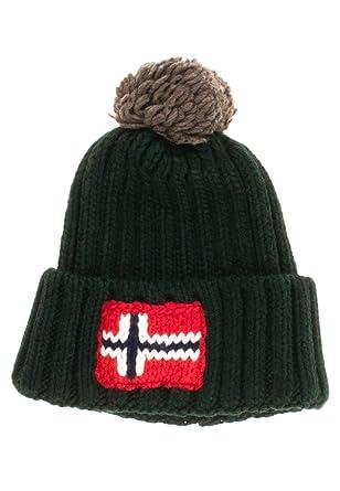 5cd262f28618f4 Napapijri SEMIURY-Men's Knitted Hat - - One Size: Amazon.co.uk: Clothing