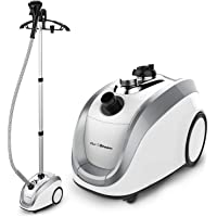 PurSteam - 2018 Official Partner of Fashion - Full Size Steamer for Clothes, Garments, Fabric - Professional Heavy Duty - 4 Steam Levels Producing Perfect Continuous Steam