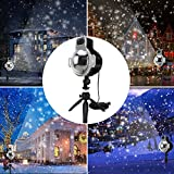 Snowfall Outdoor Led Christmas Lights Displays Projector Show Waterproof Rotating Projection Snowflake Lamp