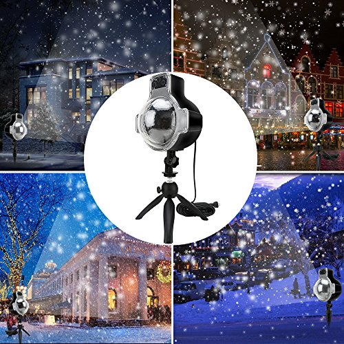 Snowfall LED Lights Waterproof Garden Lights Remote Control Landscape Lighting Christmas Projector Lights for Indoor Outdoor Wedding Party Holiday House Wall Decorations -