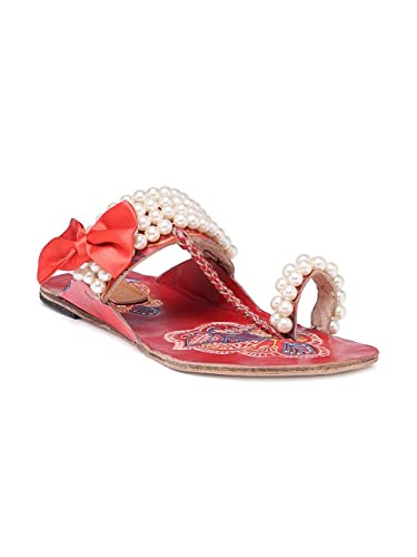 1cb72333ff32b N-Gal Printed Kolhapuri sandals (6 UK)  Buy Online at Low Prices in ...