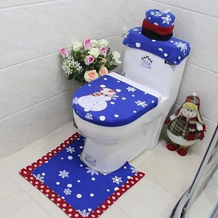 Pleasant Fairylove 1 Set Christmas Toilet Bowl Decorations Snowman Beatyapartments Chair Design Images Beatyapartmentscom