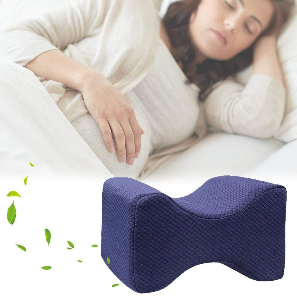 Feileng Knee Pillow Memory Foam Leg Pillows for Leg,Back Hip and Knee Pain Relief,Foot and Ankle Injury,Antibacterial Design with Washable Cover
