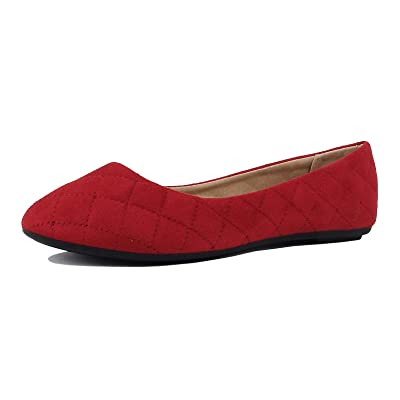 Womens Classic Comfortable Round Toe Slip On Ballet Everyday Flats Flats   Flats