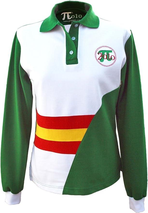 Pi2010 - Polo Bandera de España Mujer/Verde y Blanco/Fabricado en ...